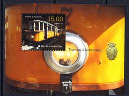 2010 Croatia Tramway Public Transit Souvenir Sheet MNH - Croatie