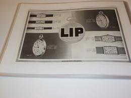 ANCIENNE  PUBLICITE CHEZ LES BONS HORLOGERS MONTRE LIP  1931 - Andere