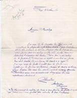 FRAZE LETTRE DE MR CHAUVIN BOULANGER A FRAZE ANNEE 1940 - France