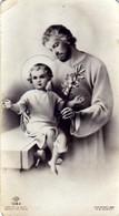 Santino - SERIE NB 1284 - S. Giuseppe Col Bambin Gesù -  E - B/N - Mm 57 X 102 Circa - Godsdienst & Esoterisme