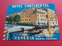 ETIQUETTE 118 Mm X 88 Mm J . LABATTANT /  HOTEL CONTINENTAL VENEZIA CANAL GRANDE - Adesivi Di Alberghi