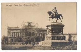 Cartolina-Postcard, Viaggiata (sent), Catania, Piazza Roma E Monumento Ad Umberto I - Catania