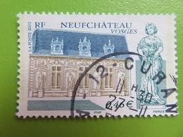 Timbre France YT 3525 - Série Touristique - Neufchâteau (Vosges) - Pavillon Des Goncourt - 2002 - Cachet Rond - France