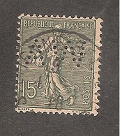 Perforé/perfin/lochung France No 130 AW A. Waton (202) - Perforés