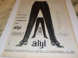 ANCIENNE PUBLICITE ELEGANCE  AVEC ATYLTERGAL  1960 - Historische Bekleidung & Wäsche