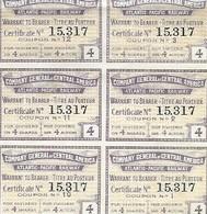 Coupon - Coupons - Titres Au Porteur - Warrant - Atlantic Pacific Railway - Non Classificati