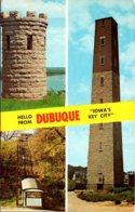 Iowa Hello From Dubuque Multi View 1968 - Dubuque