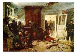Alphonse De Neuville: La Derniere Cartouche, Bazeilles (20-581) - Pittura & Quadri