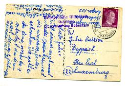 Carte De Schildau - Lager 103 Boberstein - Riesengebirg Pour Esch 1944 - Cachet Censure - 1940-1944 Occupation Allemande