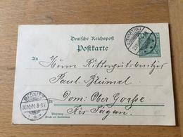 KS2 Deutsches Reich Ganzsache Stationery Entier Postal P 50II Von Altwarthau Nach Mednitz - Germania