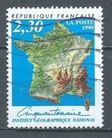 France YT N°2662 Institut Géographique National Oblitéré ° - Gebraucht