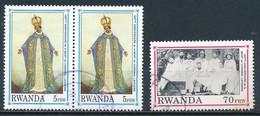 °°° RWANDA - Y&T N°1320/22 - 1993 °°° - Rwanda