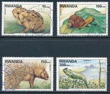 °°° RWANDA - Y&T N°1324/27 - 1997 °°° - Rwanda