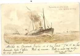 """52- Paquebots De L' Etat Belge - Ligne Ostende-Douvres - A Bord Du Paquebot Prince Albert """" Entier Postal"""" - Steamers"""