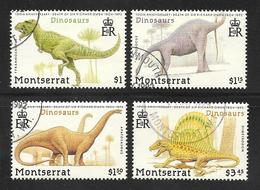 Montserrat - 1992 Dinosaurs Set 4v Fine Used - Montserrat