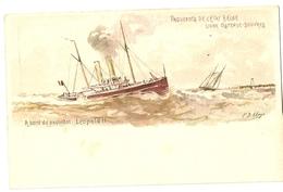 """54- Paquebots De L' Etat Belge - Ligne Ostende-Douvres - A Bord Du Paquebot Léopold II """" Entier Postal"""" - Steamers"""