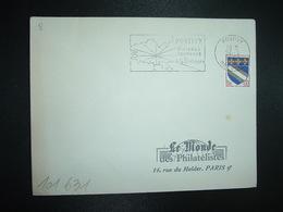 LETTRE TP TROYES 0,10 OBL.MEC.26-8 1963 PONTIVY MORBIHAN (56) RIVIERES CAMPAGNE Au Coeur De La Bretagne - Postmark Collection (Covers)