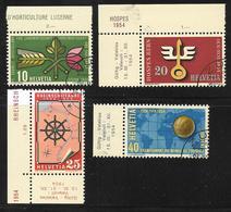 Switzerland - 1954 National Events 4v Fine Used - Nuovi