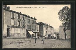 CPA Saint-Just-en-Chevalet, Place Du Centre - France