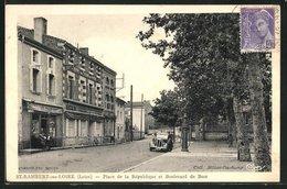 CPA St-Rambert-sur-Loire, Place De La République Et Boulevard De Bost - Ohne Zuordnung