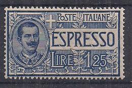 REGNO D'ITALIA 1925-26 ESPRESSO TIPI DEL 1903-08 FILIGRANA CORONA SASS.12  MNH XF - 1900-44 Victor Emmanuel III