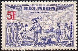 Réunion N° PA 21 ** Tricentenaire Du Rattachement Le 5f Outremer Et Rouge - Réunion (1852-1975)