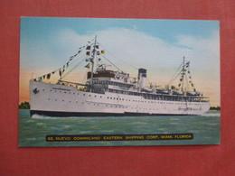 SS Nuevo Dominicano Eastern Shipping Corp Miami >  >ref 4020 - Paquebots