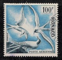 Monaco 1955 Birds Air Mail 100F Used - Collections, Lots & Series