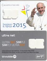BOSNIA - Pope Francis, BH Telecom GSM, Used - Bosnia