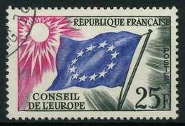 FRANKREICH DIENSTMARKEN EUROPARAT Nr 4 Gestempelt X05B212 - Oblitérés