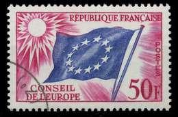 FRANKREICH DIENSTMARKEN EUROPARAT Nr 6 Gestempelt X05B236 - Oblitérés