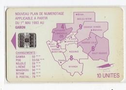 GABON Ref MV Cards : GAB-25 MAP OF GABON 10 U - Gabun