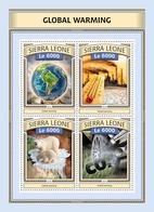 Sierra Leone 2016 Global Warming, Map Of Latin America , Polar Bear - Sierra Leone (1961-...)