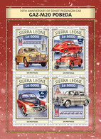 Sierra Leone 2016  GAZ-M20 Pobeda,  Soviet  Cars - Sierra Leone (1961-...)