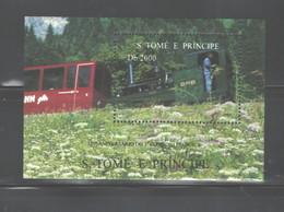 """S TOME E PRINCIPE 1997 """"TRAINS"""" M.S.. #NO SCOTT (MICHEL)  MNH - Sao Tome And Principe"""