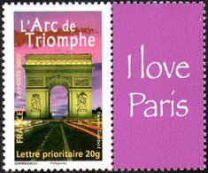 France N° 3599 A ** Arc De Triomphe (Phil@poste) Avec Sa Vignette Personnalisée - Nuovi