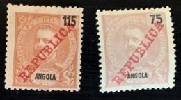 ANGOLA - MH* - 1911 - #  95, 97 - Angola