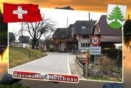 Postcard, REPRODUCTION, Municipalities Of Switzerland, Busswil Bei Melchnau - Landkaarten