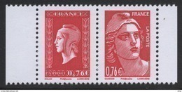 N° 4991 & 4992 Du Carnet N° 1522  Faciale 0,76 € X 2 - France