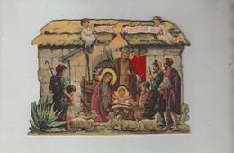 Crèche Ancienne En Carton Gloria In Excelsis Deo - Religion & Esotérisme