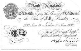 1536a: Gefälschte 50- Pfund- Note Aus Dem Toplitzsee, RR - Oesterreich