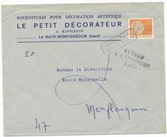 LOT ET GARONNE GRIFFE LINEAIRE NOMENCLATURE GC N° 2403 MONFLANQUIN // ANNULATION REGLEMENTAIRE DU TIMBRE PREO AVEC GRIFF - Postmark Collection (Covers)