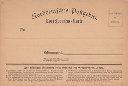 Germany 1870 - NORDDEUTSCHE POSTGEBIETE Correspondenz-Karte Nr. 2(b), North German Confederation. - Conf. De Alemania Del Norte
