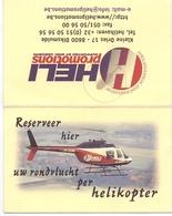 Visitekaartje - Carte Visite - Helikopter Vluchten HELI Promotions - Diksmuide - Cartes De Visite