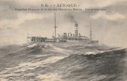"""BATEAUX -  S.S.""""AFRIQUE""""  Paquebot Français De La Cie Des Chargeurs Réunis - Steamers"""