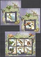 ST580 2015 SIERRA LEONE FAUNA BIRDS CUCKOOS 1KB+2BL MNH - Cuckoos & Turacos