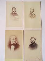 Lot De 4 CDV Photographies Portrait Homme Avec Favoris - Mode D'Epoque - Circa 1865 / 1870 - BE/TBE - Foto