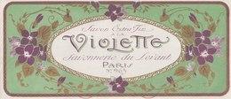 Savon à La Violette - Savonnerie Du Levant - Paris  N° 963 ( 255 Mm X 111 Mm ) - Etiquetas