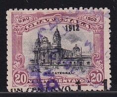 Guatemala 1912, SHIFTED OVP, Minr 141 - Guatemala