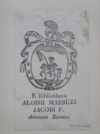 Ex-libris Héraldique Italien XVIIIème - Luigi MARSUZI (Rome) - Ex-libris